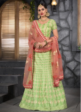 Net Trendy A Line Lehenga Choli For Party