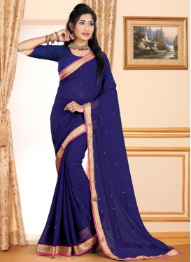 Lace Work Trendy Classic Saree