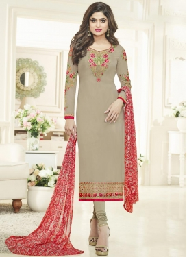 Embroidered Work Long Length Pakistani Suit