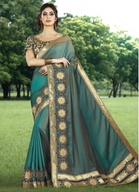 Lace Work Classic Designer Saree For Ceremonial
