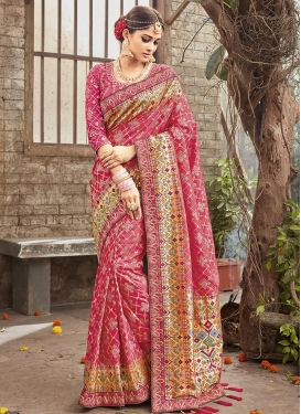 Embroidered Work Banarasi Silk Trendy Saree