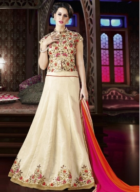Silk Long Choli Lehenga
