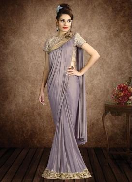 Lycra Beads Work Classic Designer Saree