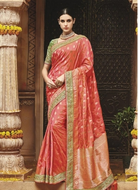 Banarasi Silk Lace Work Classic Saree