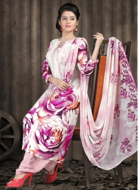 Digital Print Work Pink and Rose Pink Trendy Suit