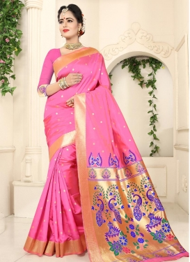 Thread Work Classic Saree For Festival