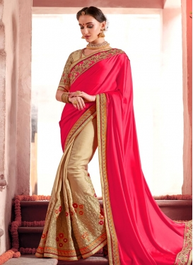 Faux Georgette Half N Half Saree For Party