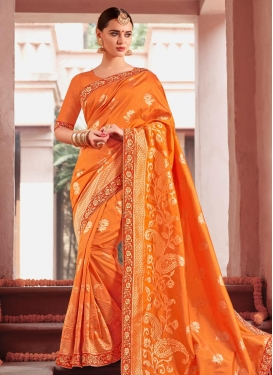 Jacquard Beads Work Classic Saree
