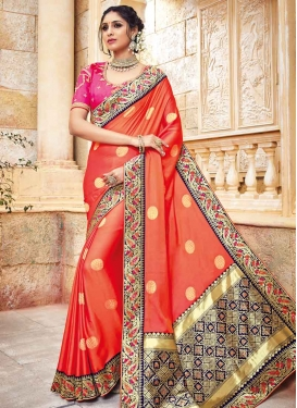Jacquard Silk Contemporary Saree