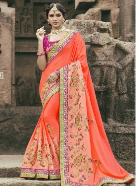 Beads Work Art Silk Classic Saree