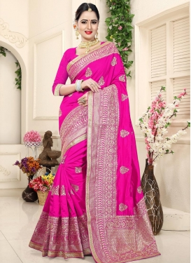 Booti Work Classic Saree For Ceremonial