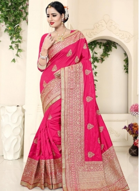 Booti Work Art Silk Traditional Saree