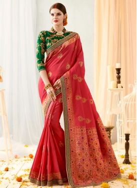 Embroidered Work Classic Saree