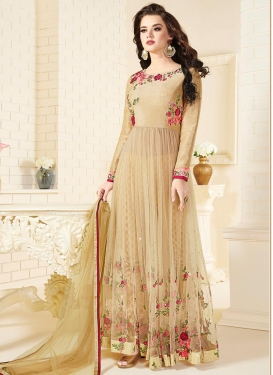 Embroidered Work Long Length Designer Suit For Festival
