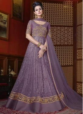 Beads Work Floor Length Anarkali Suit