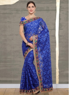 Lace Work Net Contemporary Style Saree
