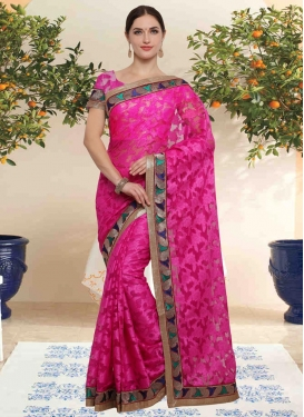 Net Contemporary Saree For Casual