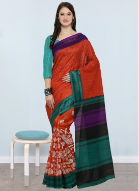 Embroidered Work Classic Saree For Casual