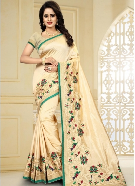 Aari Work  Traditional Saree