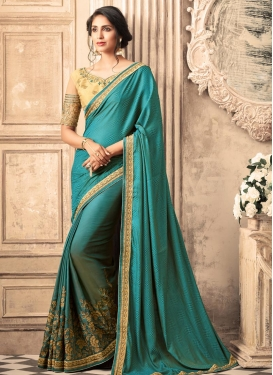Embroidered Work Trendy Classic Saree For Party
