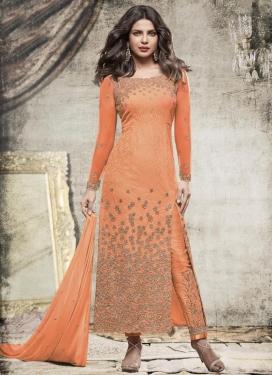 Priyanka Chopra Net Embroidered Work Pant Style Designer Salwar Suit