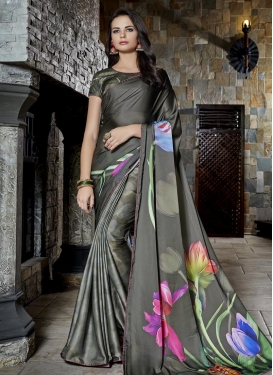 Satin Classic Saree For Festival