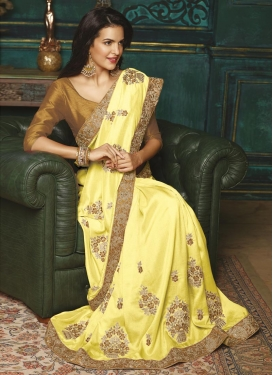 Silk Embroidered Work Traditional Saree