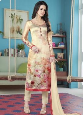 Satin Silk Pant Style Salwar Suit