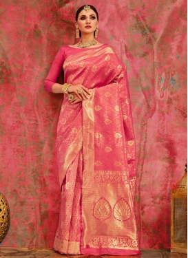 Jacquard Silk Thread Work Contemporary Saree