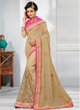 Net Half N Half Designer Saree