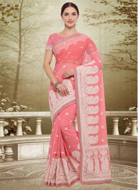 Faux Georgette Contemporary Style Saree