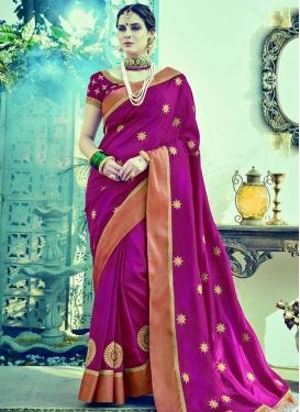 Silk Booti Work Contemporary Style Saree