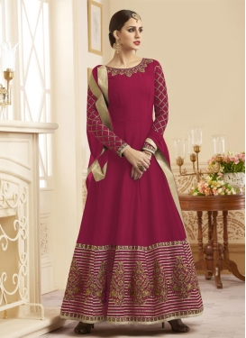 Silk Trendy Kalidar Salwar Kameez