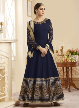 Silk Trendy Kalidar Salwar Suit For Ceremonial
