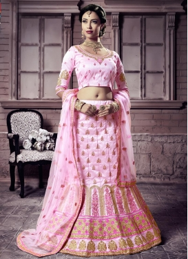 Art Silk Designer A Line Lehenga Choli For Party