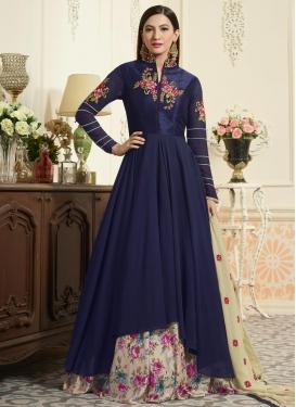 Gauhar Khan Faux Georgette Kameez Style Lehenga Choli