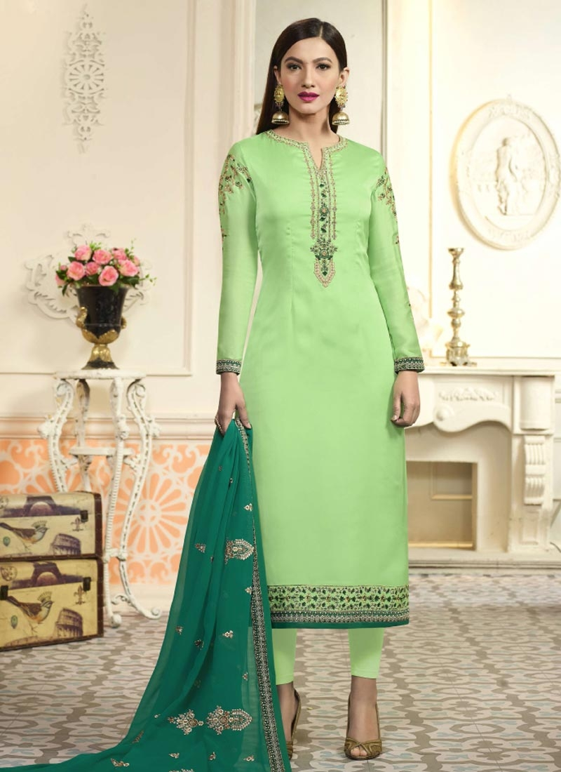 Embroidered Work Gauhar Khan Pakistani Salwar Kameez