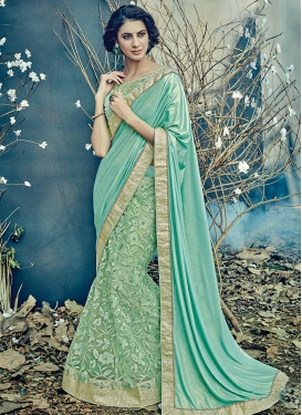 Embroidered Work Designer Lehenga Saree