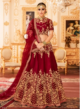 Art Silk Trendy Lehenga Choli For Bridal