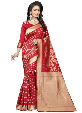 Thread Work Banarasi Silk Classic Saree For Ceremonial