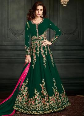 Faux Georgette Anarkali Salwar Kameez