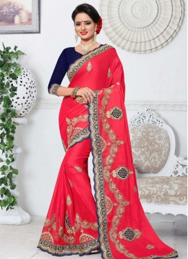 Booti Work Silk Georgette Traditional Saree
