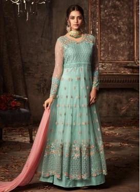 Net Long Length Layered Salwar Suit