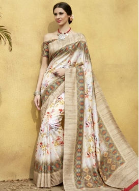Digital Print Work Classic Saree