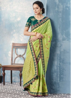 Beads Work Contemporary Saree For Festival