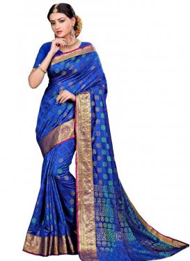 Cotton Silk Thread Work Classic Saree