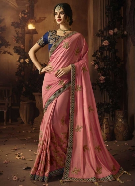 Art Silk Beads Work Trendy Classic Saree
