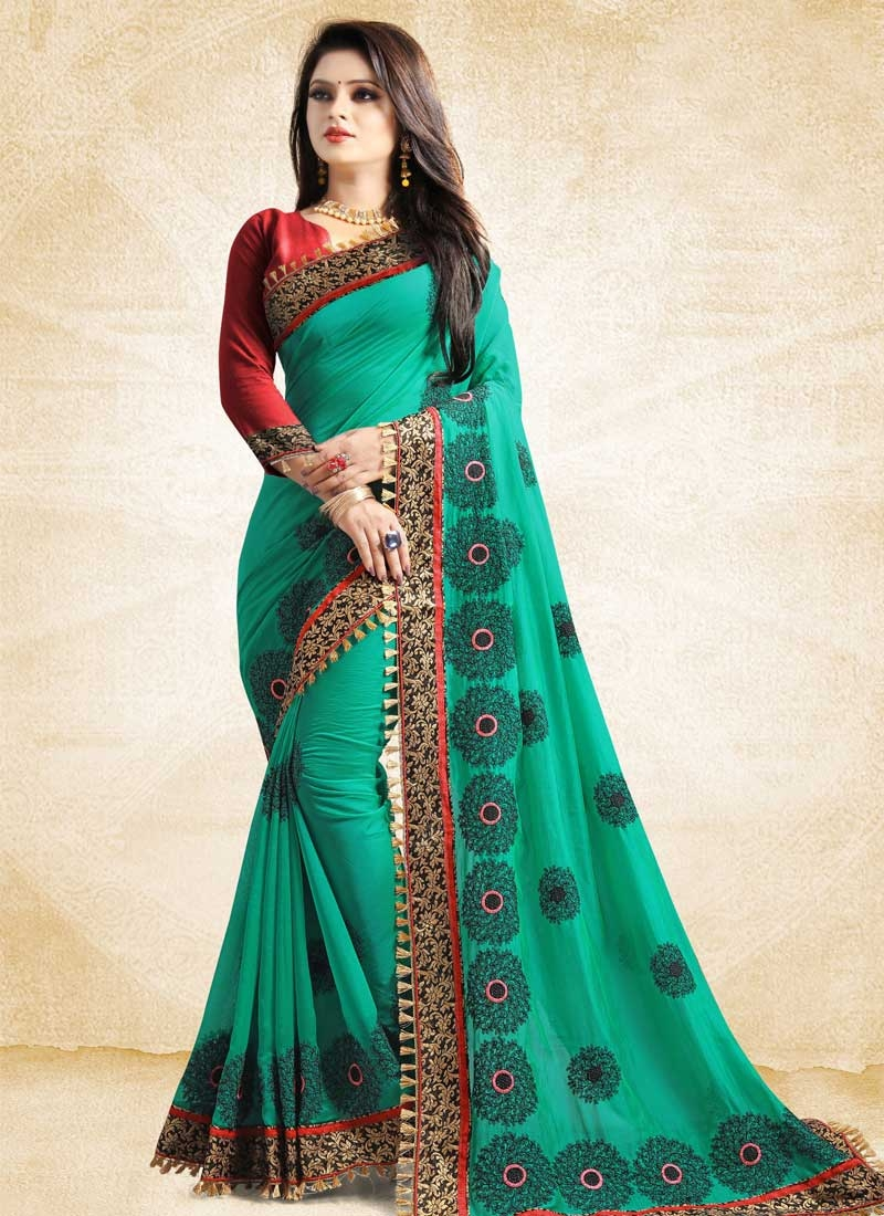 Satin Silk Trendy Saree