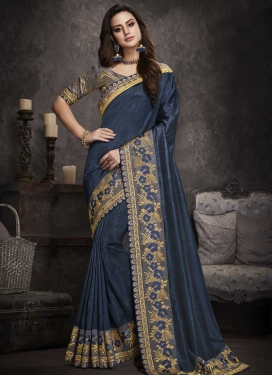 Art Silk Designer Traditional Saree For Festival