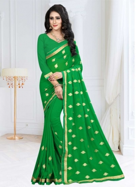 Faux Georgette Designer Contemporary Saree For Ceremonial